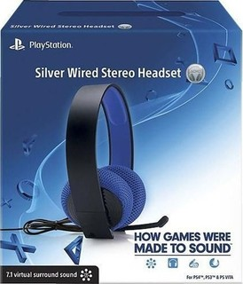 Sony Silver Wired Stereo Headset for PS4, PS3 and PS Vita