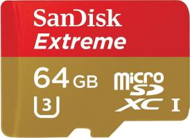 SanDisk 64GB Extreme microSDXC Memory Card U3 Class 10 (SDSDQXN-064G )