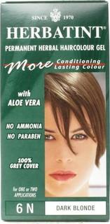 صبغة شعر هيرباتينت بدون مونيا 6N شقر غامق Herbatint Permanent Herbal Haircolor-4N-Dark Blonde