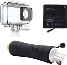 YI Camera Waterproof Housing Case with additional battery CAM-YI-AC-B14, Multicolor