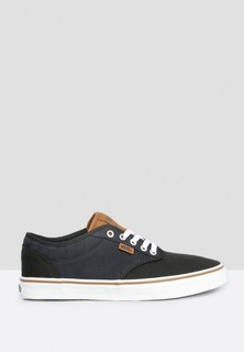 VANS Atwood Checkered Print Sneakers - Black