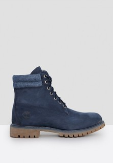 TIMBERLAND 6 Inch Double Collar Boots - Navy