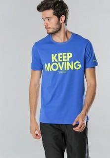 Anta Slogan Print Short Sleeve T Shirt - Blue
