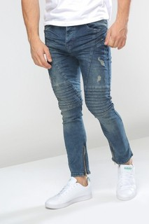 DENIM HOUSE STRETCH SLIM FIT JEANS - Blue