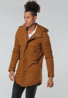 PROJECT X PARIS Hooded Cotton Parka Coat Jacket - Brown