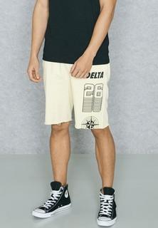 Topman Printed Raw Shorts