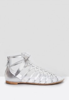 CASADEI Gladiator Flat Sandals - Silver