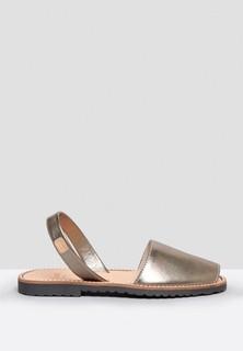 Castell Madonna Metallic Slingback Sandals - Gold