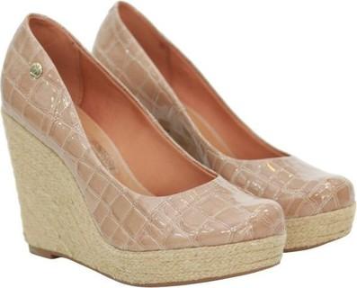 Green Shoe Beige Wedge For Women