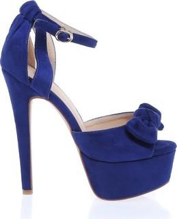 Toga Bowed Ankle Strap Sandals - Blue