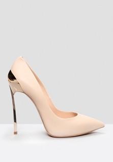 CASADEI Stiletto Heel Pointed Toe Pumps - Beige