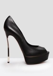 CASADEI Stiletto Open Toe Pumps - Black