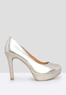 ChicShoes Metallic Platform Pumps - Gold Silver