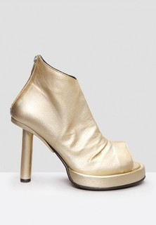 GORAN HORAL Back Zipped Metallic Boots - Gold