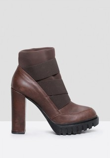 MAKRIS Chunky Cleated Elastic Boots - Brown