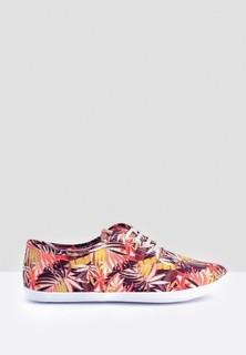 Tamaris Abstract Print Sneakers - Multicolor