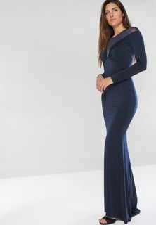 Tfnc LONDON Nancy Long Sleeve Maxi Dress - Navy