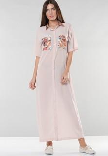 The Sewing Birds Disney print shirt dress - Light Pink