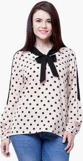 FABALLEY Curve Pussy Bow Blouse