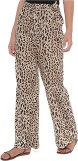 FABALLEY Leopard Love Viscose Palazzo - Brown
