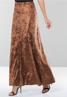 Seden Velvet Skirt - Brown