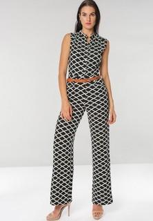 ALLEGRA Checkered Jumpsuit - Black White