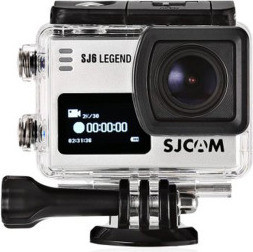 SJCAM SJ6 Legend Gyro Stabilization 4K Action Camera CAM-SJ6L-S 16 MP, Silver