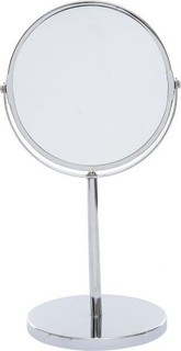 HOME Chrome Table Top Double Sided Mirror - Silver