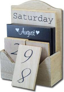 My Thing English wooden brown tile calendar brown+ black