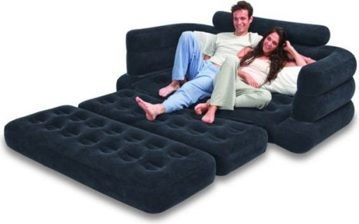 Intex Two Person Inflatable Pull Out Sofa Bed SB LG 68566 - BLACK