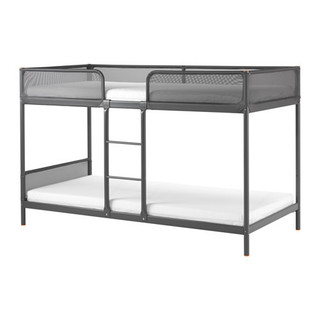 TUFFING Bunk bed frame, dark grey