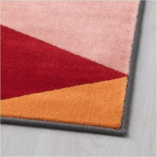 Rug Low Pile, Multi colour, Polypropylene, 133x195cm - I20850K