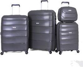 Travelite Hard Case 4 Pcs Trolley Set 26 9756713, Grey