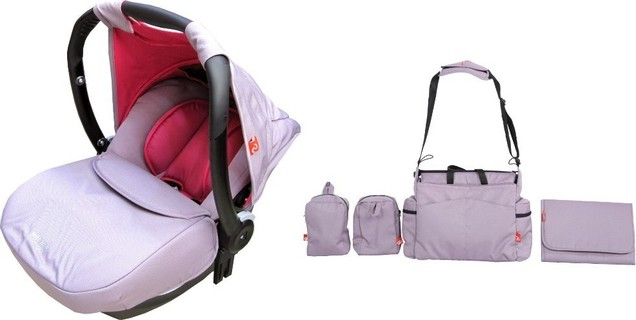 Geoby Lightweight Infant Car Seat with Bag, Pink