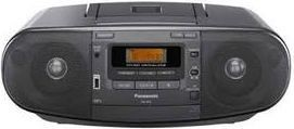 Panasonic 8 Watts CD Radio Cassette Player with USB Port (Model: RX-D53GS-K)