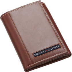 Tommy Hilfiger 31TL11X033 Leather Men's Wallet Cambridge Trifold, Brown