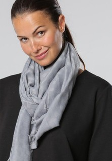 Sara Arabia Checkerboard Pattern Scarf - Grey