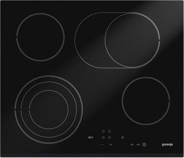 Gorenje 60cm 4 Burners Built-In Glass Ceramic Hob (ECT680CSC) Black