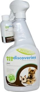 EcoDiscoveries, مزيل را حة الحيوانات ال ليفة ومزيل البقع 2 ون ص ة سا لة تركيز (60 مل) لكل 1.بخة من زجاجة البخاخ