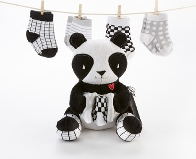 Baby Aspen Panda Paws Plush Plus Socks for Baby