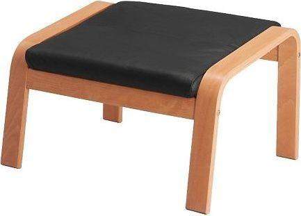 POAeNG Footstool, beech veneer, Robust Glose dark brown