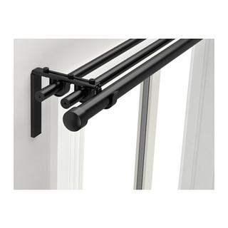 RAeCKA HUGAD Triple curtain rod combination, black