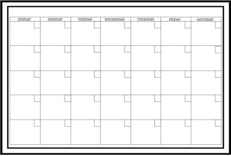 ,بوصة 36.00 ,Monthly Board Planner , وول بوبسبوصة 24.00