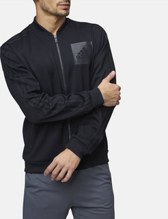 adidas essentials bomber track jacket - Black