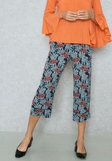 MANGO Printed Cropped Pants