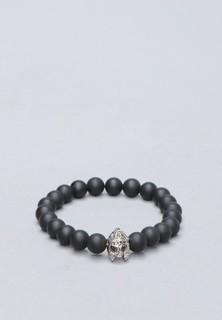 Nuray Jasper Bracelet - Black Silver
