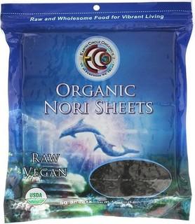 Earth Circle Organics، أوراق نوري العضوية ، 50 ورقة ، 4.4 أونصة 125 جم
