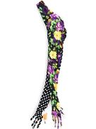 Richard Quinn floral and polka dot gloves