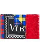 Versace Tartan Vintage Logo scarf