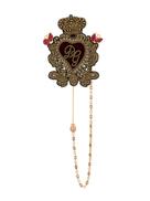 Dolce Gabanna Dolce & Gabbana sacred heart brooch